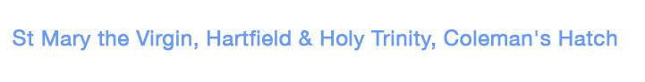St Mary the Virgin, Hartfield & Holy Trinity, Coleman's Hatch Logo
